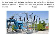 High voltage installation