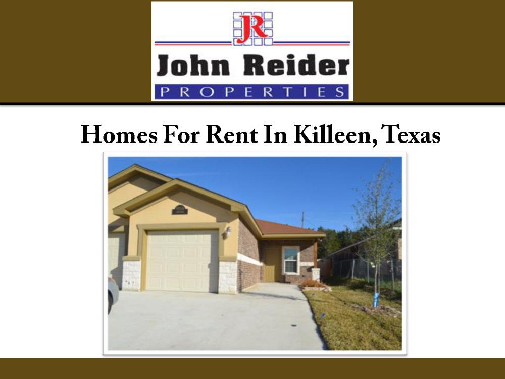 Homes for rent in killeen texas authorstream for Home builders in killeen tx