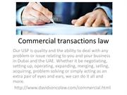 Commercial transactions law