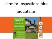 Termite Inspections blue mountains