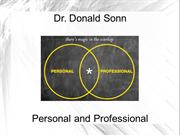 Dr. Donald Sonn: Personal and Professional
