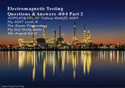 Electromagnetic Testing - Q&A 004 Part 2 of 2