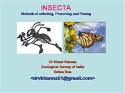 Collecting setting and preserving Insects