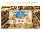 Learn How you can Auto Post, Auto Renew Cragslist Ads?