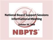 National Board Support Sessions PPT Sess