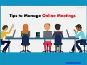 Tips to Manage Online Meetings Better