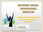Business Email Appending Services- iAppend