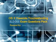Apple 9L0-066 OS X Yosemite Troubleshooting Exam Questions Pack