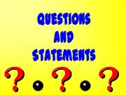 Questions and Statements Grammar
