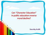Character Education PP 2