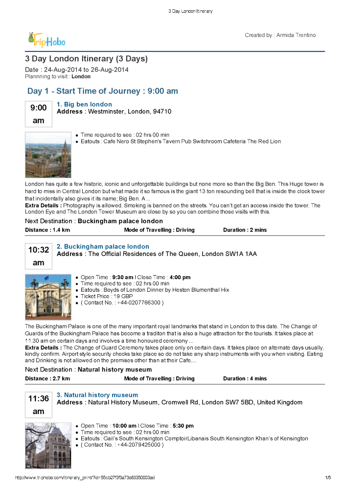 3 Day London Itinerary 3 Days In London Triphobo