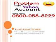 08000588229 Yahoo phone number: Toll free number for Yahoo Customer