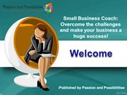 Small Business Coach at Passion and Possibilities