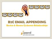 B2C Email Appending- iAppend