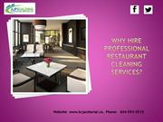 Benefits of Hiring Professional Restaurant Cleaning Services