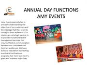 ANNUAL DAY FUNCTIONS EVENT PLANNER IN CHANDIGARH AMY EVENTS