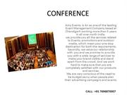DELAR MEET CORPORATE EVENT CONFERENCE IN CHANDIGARH AMY EVENTS