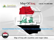 Download Editable PowerPoint Maps Iraq