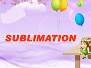 SUBLIMATION PPT