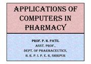 Application of computer in pharmacy