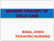 MODERN CONCEPT OF CHILD CARE