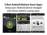5 Best Android Battery-Saver Apps