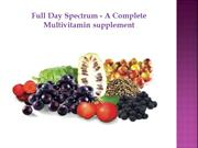 Full Day Spectrum - A Complete Multivitamin supplement