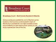 Broadway Court - Best Condo Rentals In Manila