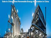 Gate to China  Best Renewable Energy Association in China