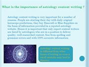 100% correct astrology content writing services