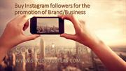 Buy Instagram followers for the promotion of service