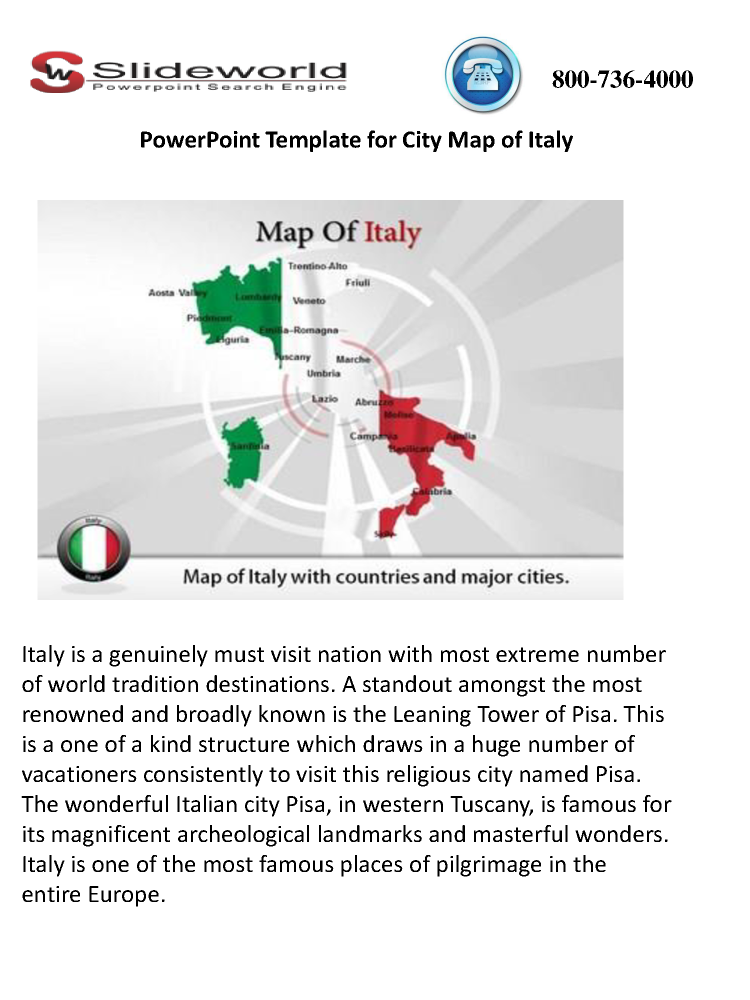 Powerpoint template for city map of italy authorstream toneelgroepblik Choice Image