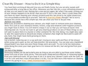 Clean My Shower – How to Do It in a Simple Way