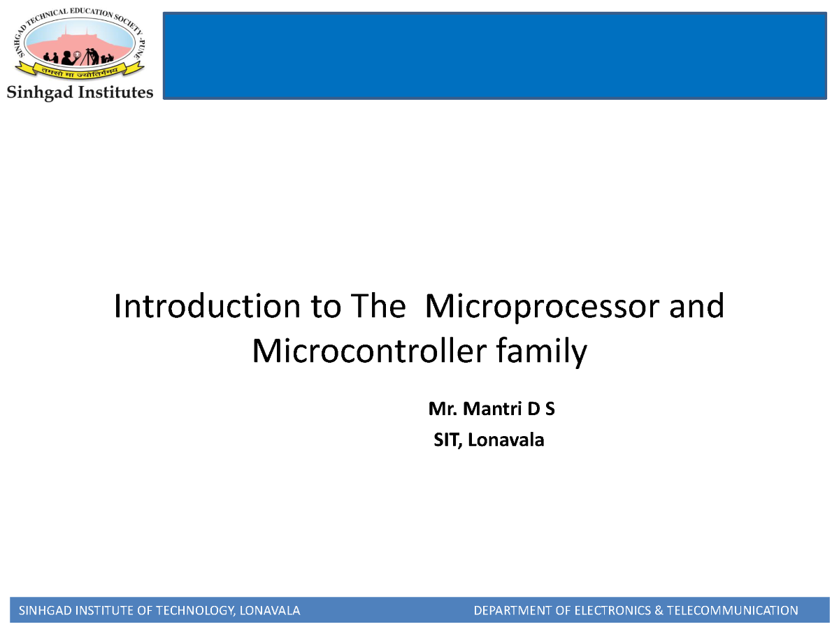 Introduction To Microcontroller 8051 Authorstream Highfrequency Signal Generator Free Electronic Circuits 8085 Related Presentations