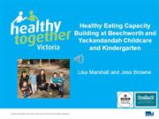 Healthy Eating Capacity Building