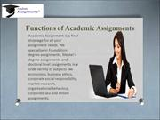Accademic Assignments