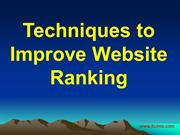 Techniques to Improve Website Ranking