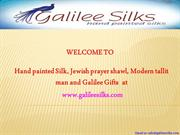 Modern Tallit and Jewish prayer shawl Hand Painted for men at Galilee