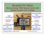 Brushed DC Motor PWM H-Bridge Encoder Arduino System 2012