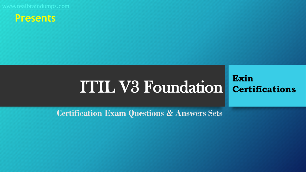 Exi Itil V3 Foundation Exam Sample Questions Answers Pdf Authorstream