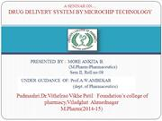 DRUG DELIVERY BY MICROCHIP