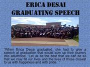 Erica Desai - Graduating Speech