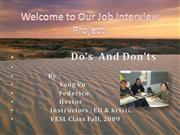 Welcome to Our Job Interview Project fin