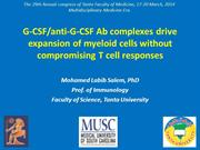 G-CSF complexes by Prof. Mohamed Labib Salem