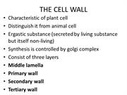 lecture 4 CELL WALL