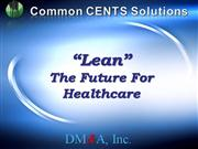 CCS Lean - The Future for Healthcare 9-0