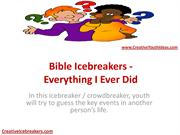 Bible Icebreakers - Everything I Ever Did