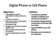 Digital Phone v Cell Phones
