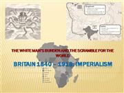 BRITAIN 1850 � 1914 imperialism - option