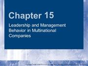 Multinational Management_5e_Cullen_Ch15